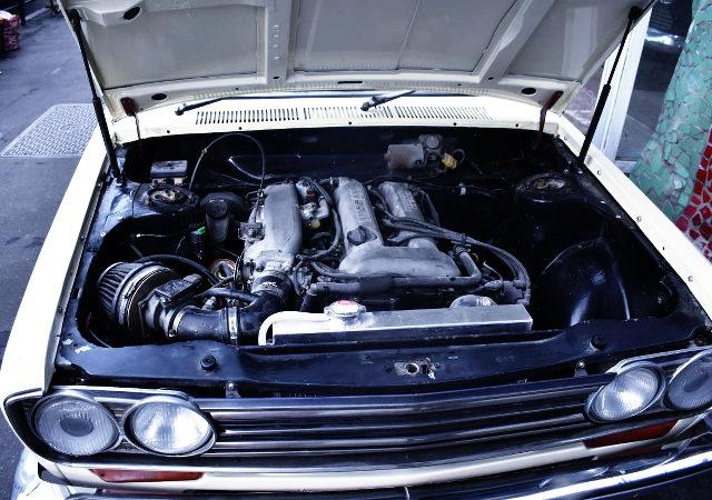 S15 SR20DE ENGINE INTO 510 BLUEBIRD ENGINE ROOM