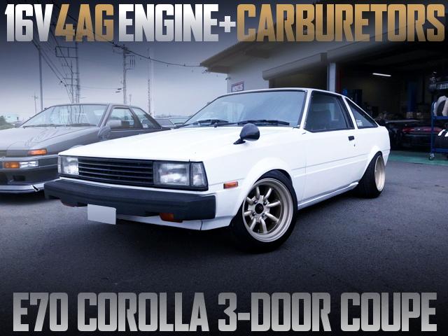16V 4AG With CARBS INTO E70 COROLLA 3-DOOR COUPE