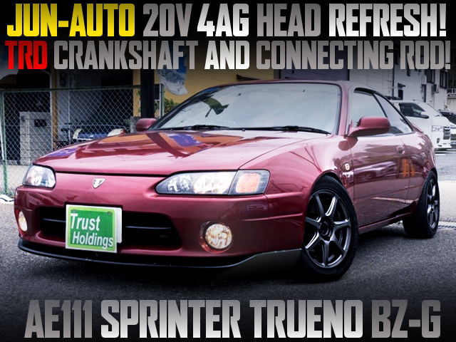 JUN HEAD AND TRD CRANK AND ROD INSTALLED AE111 TRUENO BZ-G