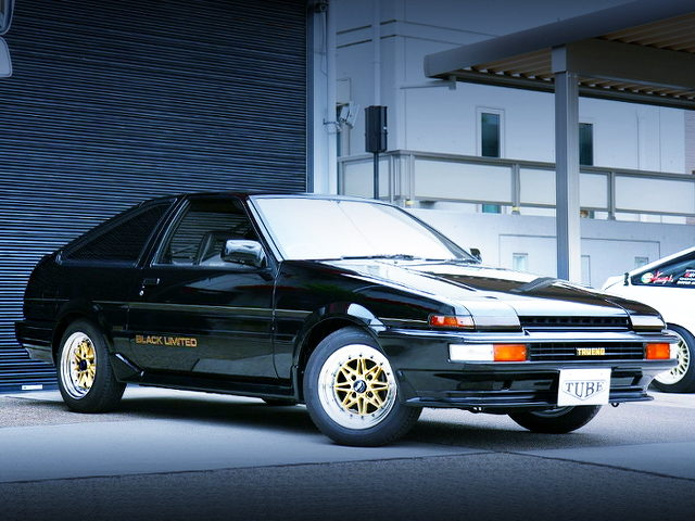 FRONT EXTERIOR OF AE86 BLACK LIMITED