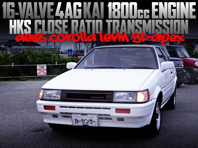 16V 4AG KAI 1800cc ENGINE INTO AE86 LEVIN GT-APEX
