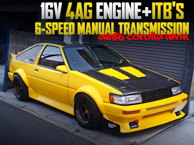 16V 4AG WITH ITBs AND6MT INTO AE86 LEVIN OF YELLOW