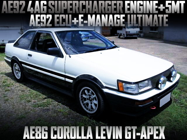 4AG SUPERCHARGER ENGINE INTO AE86 LEVIN GT-APEX