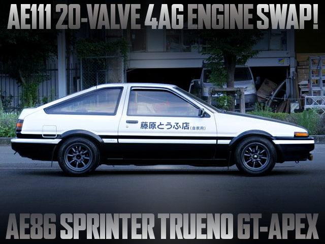 20V 4AG SWAPPED AE86 TRUENO GT APEX With INITIAL-D REPLICA