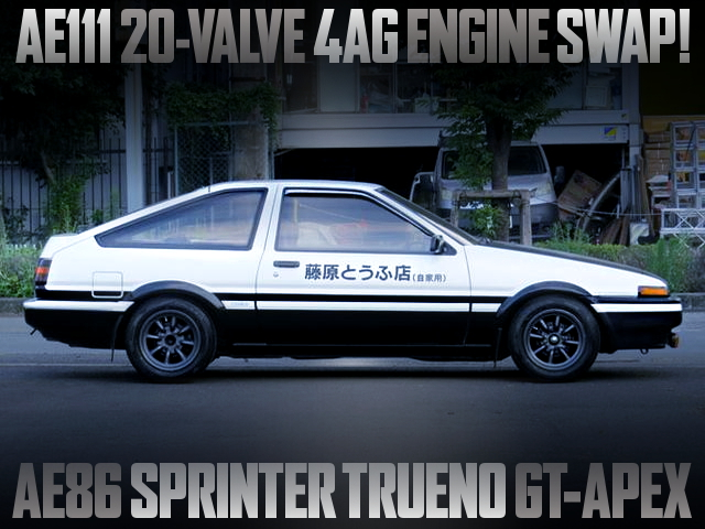 20V 4AG SWAPPED AE86 TRUENO GT APEX With INITIAL-D REPLICA