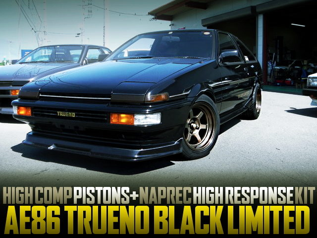 HIGH COMP PISTONS NAPREC HEAD KIT INSTALLED AE86 TRUENO BLACK LIMITED