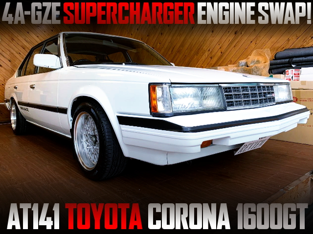 4AZGE SUPERCHARGER ENGINE SWAPPED AT141 CORONA 4-DOOR 1600GT