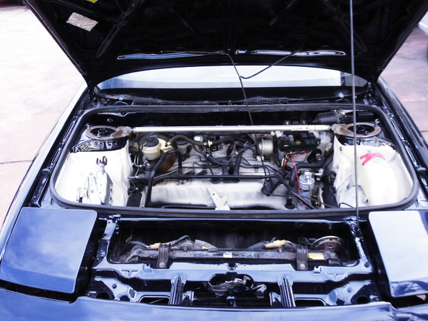 FRONT HOOD OPEN OF AW11 MR2