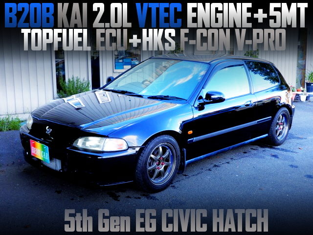 B20B KAI 2000cc VTEC ENGINE INTO EG CIVIC HATCH