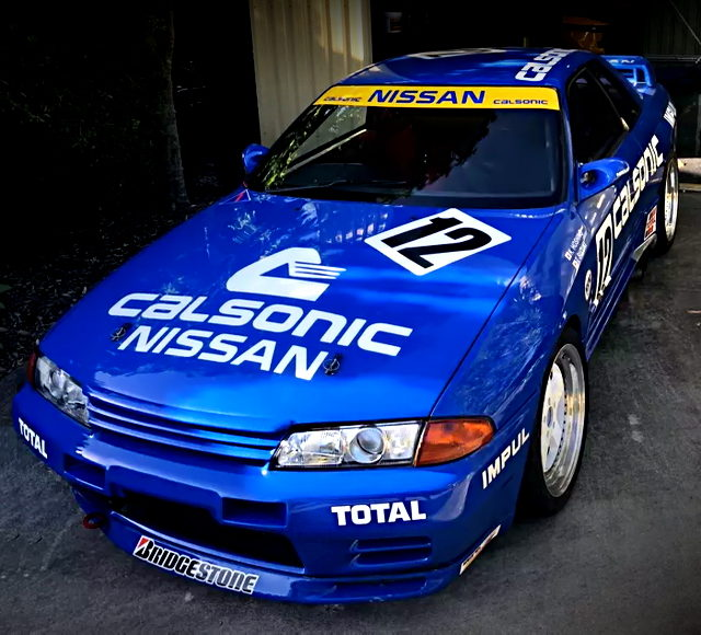 FRONT EXTERIOR OF CALSONIC R32 GT-R REPLICA