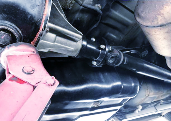 FR CONVERSION OF CUSTOM DRIVE SHAFT AND DIFF