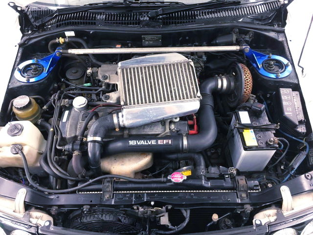4E-FTE 1300cc TURBO ENGINE OF EP82 STARLET