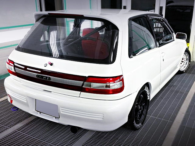 REAR EXTERIOR OF EP82 STARLET GT