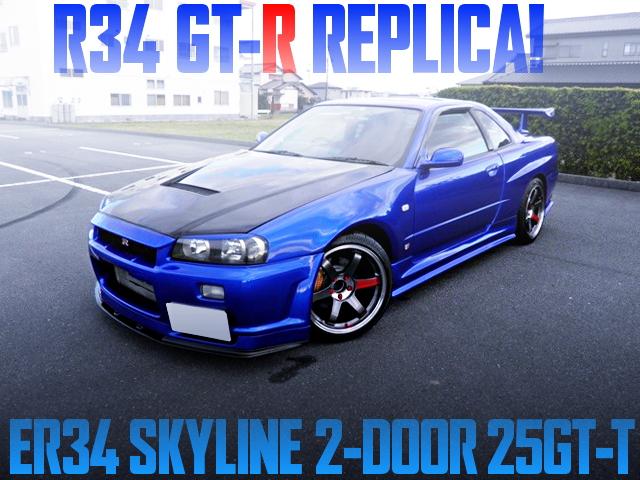 R34 GT-R REPLICA OF ER34 SKYLINE 2-DOOR 25GTT BLUE
