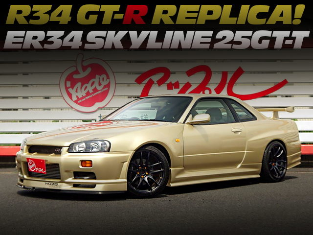R34 GT-R REPLICA OF ER34 SKYLINE 25GT-T WITH GOLD PAINT