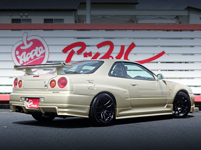 REAR EXTERIOR OF ER34 SKYLINE 25GT-T OF R34 GT-R REPLICA