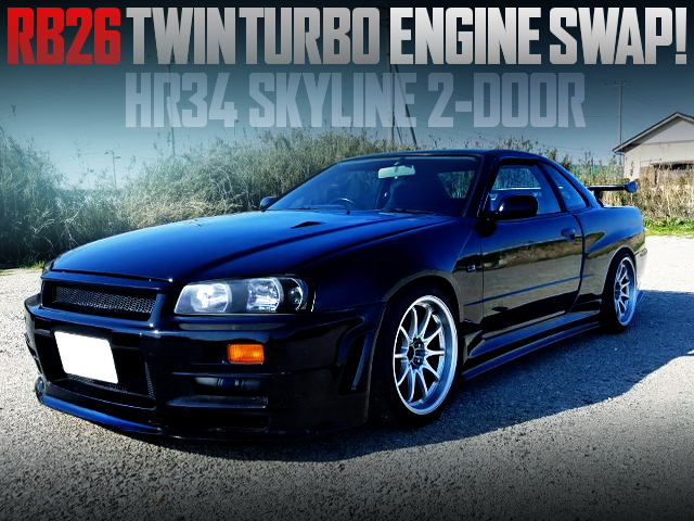 RB26 TWINTURBO SWAPPED HR34 SKYLINE 2-DOOR WITH WIDEBODY BUILD