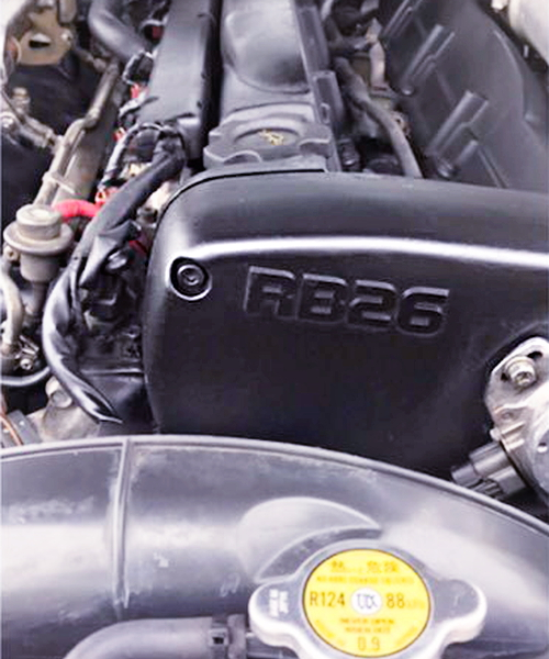RB26 CAM COVER OF RB26 LOGO