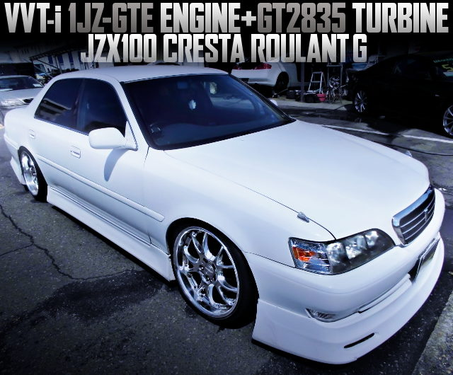 GT2835 TURBO AND 5MT CONVERSION TO JZX100 CRESTA ROULANT G OF WHITE