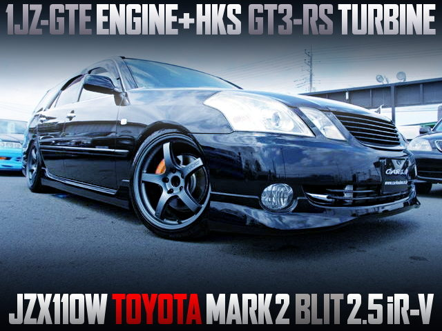 HKS GT3-RS TURBOCHARGED JZX110W MARK 2 BLIT iR-V