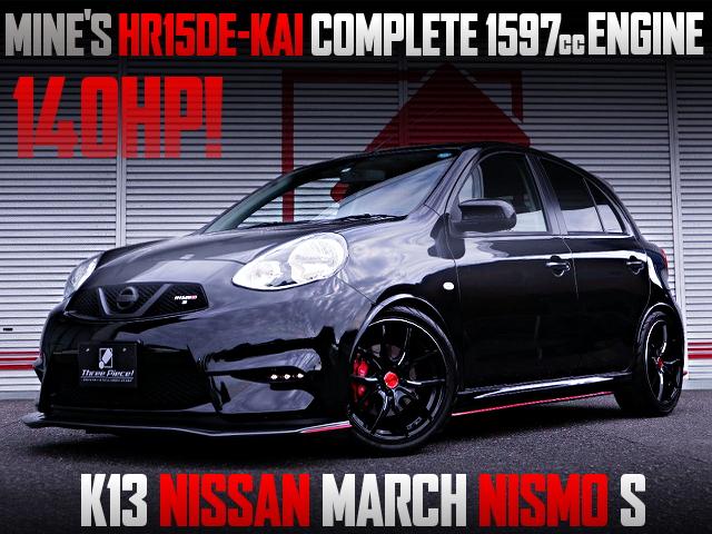 140HP MINEs HR15DE-kai 1597cc ENGINE INTO K13 MARCH NISMO S