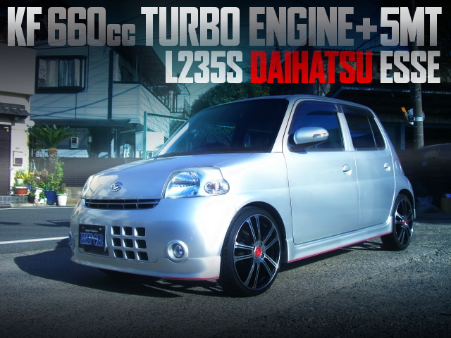 KF 660cc TURBO ENGINE AND 5MT SWAPPED L235S ESSE CUSTOM