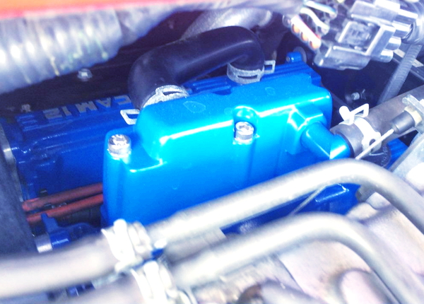 BLUE HEAD OF F6A TURBO ENGINE