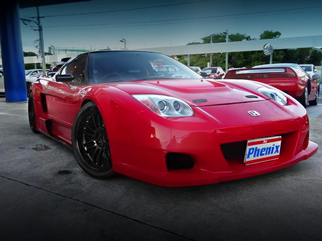FRONT EXTERIOR OF 1ST GEN KOUKI NA2 NSX WITH RED