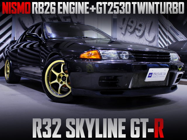 NISMO RB26 with GT2530 TWINTURBO INTO R32 GT-R OF BLACK