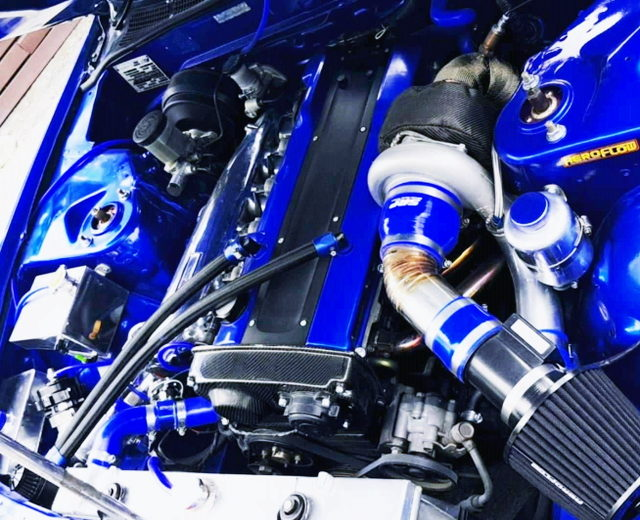 RB25DET TURBO ENGINE WITH GT35 SINGLE TURBO