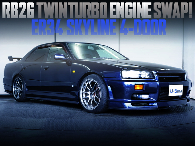RB26 SWAPPED ER34 SKYLINE 4-DOOR SEDAN