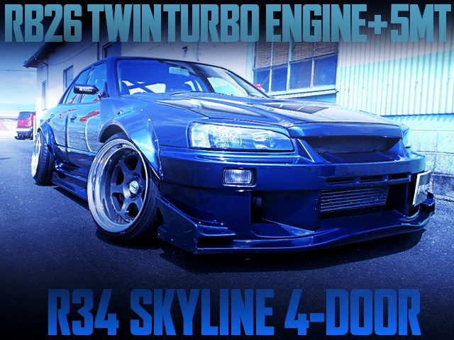 RB26 SWAPPED R34 SKYLINE 4-DOOR WITH WIDE BODY