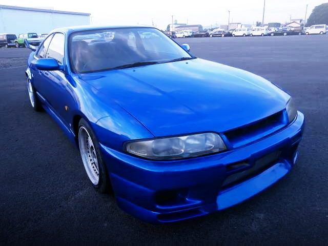R33 SKYLINE FRONT FACE WITH BLUE PAINT