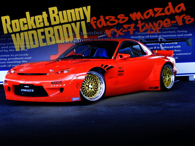 ROCKET BUNNY WIDEBODY AND BACK MOUNT GT WING WITH FD3S RX7
