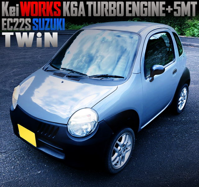 kei WORKS K6A TURBO ENGINE SWAPPED EC22S SUZUKI TWIN With GRAY COLOR