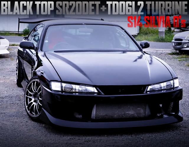 BLACK TOP SR20DET WITH TD06L2 TURBO INTO S14 KOUKI SILVIA