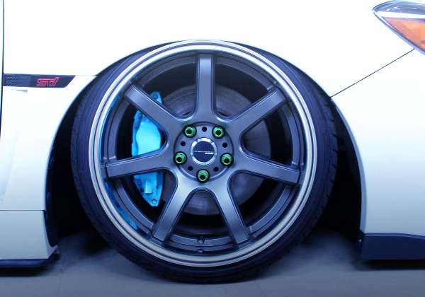 LIGHT BLUE PAINT OF BRAKE CALIPER