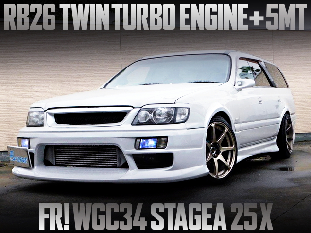 RB26 SWAPPED WGC34 STAGEA 25X OF REAR WHEEL DRIVE