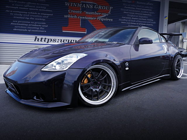 FRONT EXTERIOR OF Z33 FAIRLADY Z VERSION S With MIDNIGHT PURPLE