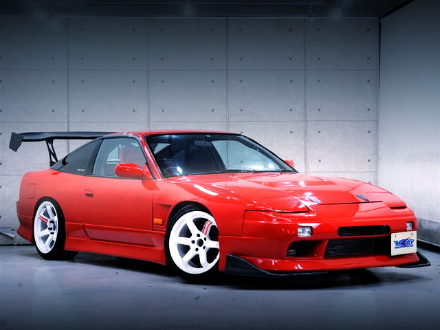 FRONT EXTERIOR OF 180SX TYPE3 WITH RED