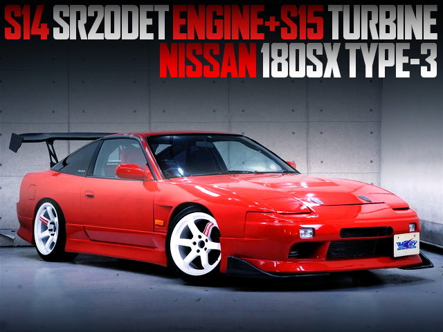 S15 TURBOCHARGED S14 SR20DET SWAPPED 180SX TYPE3 OF RED REPAINT