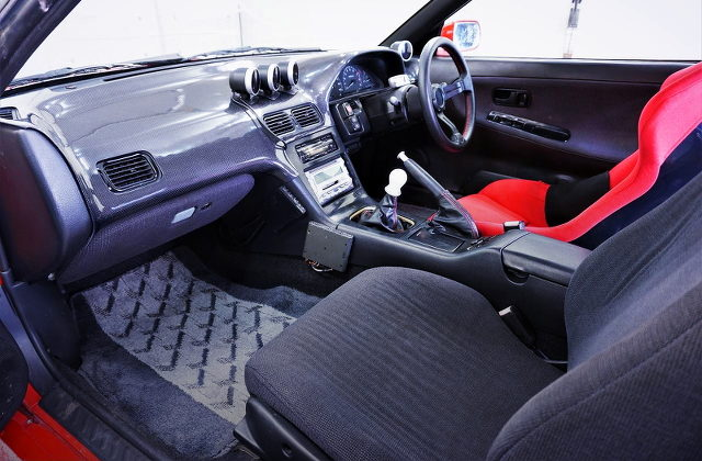 180SX CARBO COVER DASHBOARD INSTALLED