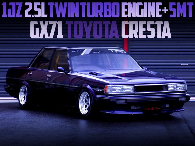 1JZ TWINTURBO ENGINE SWAPPED GX71 CRESTA