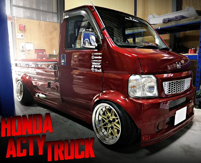 WIDE BODY AND SIDE EXIT EXHAUST WITH 3rd Gen HONDA ACTY TRUCK