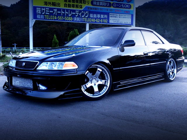 FRONT EXTERIOR OF 8th Gen TOYOTA MARK2 BLACK
