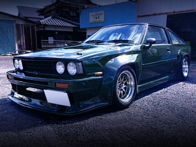 FRONT EXTERIOR OF AE70 COROLLA COUPE WITH N2 WIDEBODY