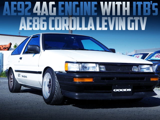 AE92 4AG with ITBs INTO A AE86 COROLLA LEVIN HATCH