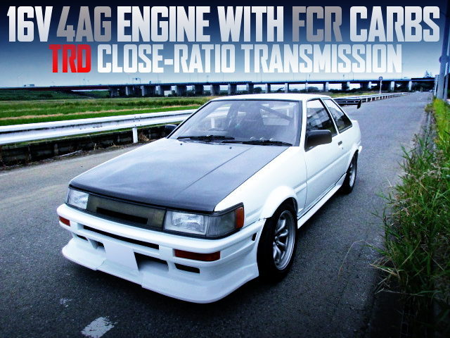 16V 4AG With FCR Carbs INTO A AE86 COROLLA LEVIN 2-DOOR