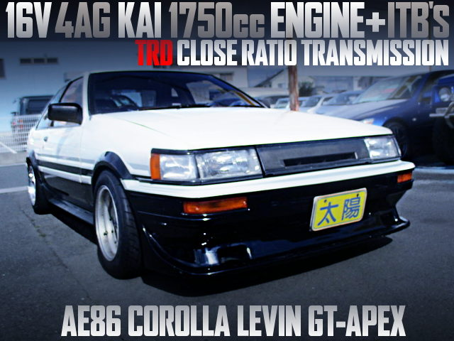 16V 4AG KAI 1750cc with ITBS INTO AE86 LEVIN GT APEX