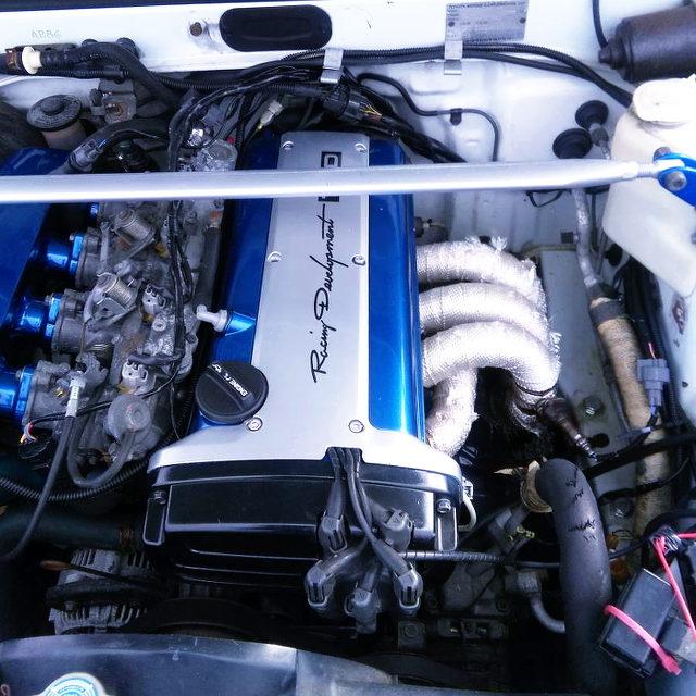 5V 4AG ENGINE SWAPPED AE86 ENGINE ROOM